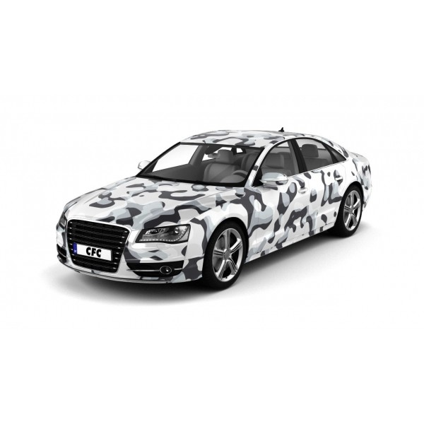 Car Wrap Folie Camouflage Snow Glans 150x100cm