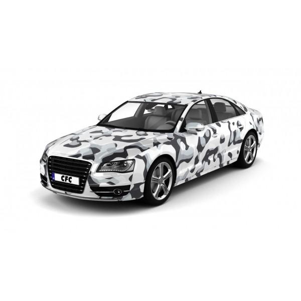Car Wrap Folie Camouflage Snow Glans 150x300cm