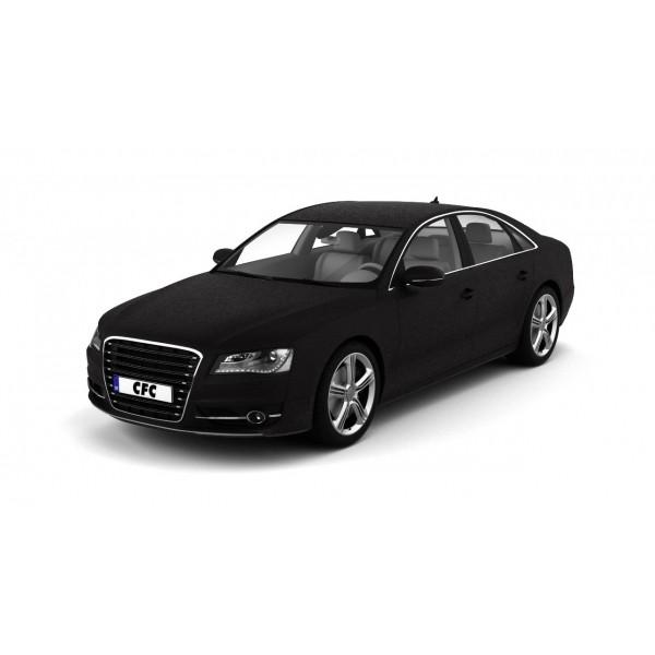 Car wrap folie CFC Designfolie leather-black-brown 122x100cm