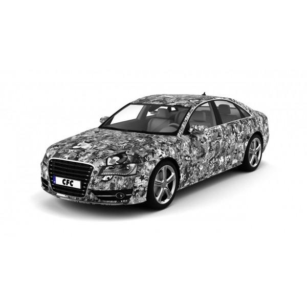 Car Wrap Folie CFC Stickerbom Black/white matt 150x100cm
