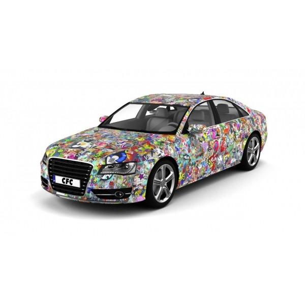 Car Wrap Folie CFC silber matt 50x50cm