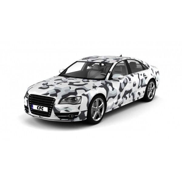 Car Wrap Folie Camouflage Snow Matt 150x300cm