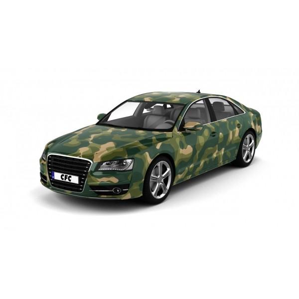 Car Wrap Folie Camouflage Military Glans 150x100cm