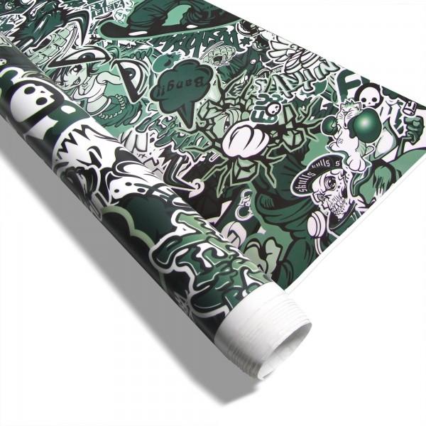 Carwrap folie stickerbom groen 1.5 x 2 meter
